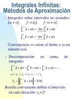 integrales infinitas m todos de aproximaci n