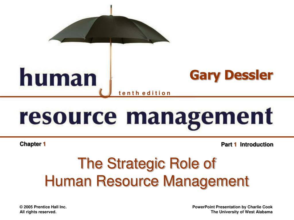 the strategic role of human resource management l.