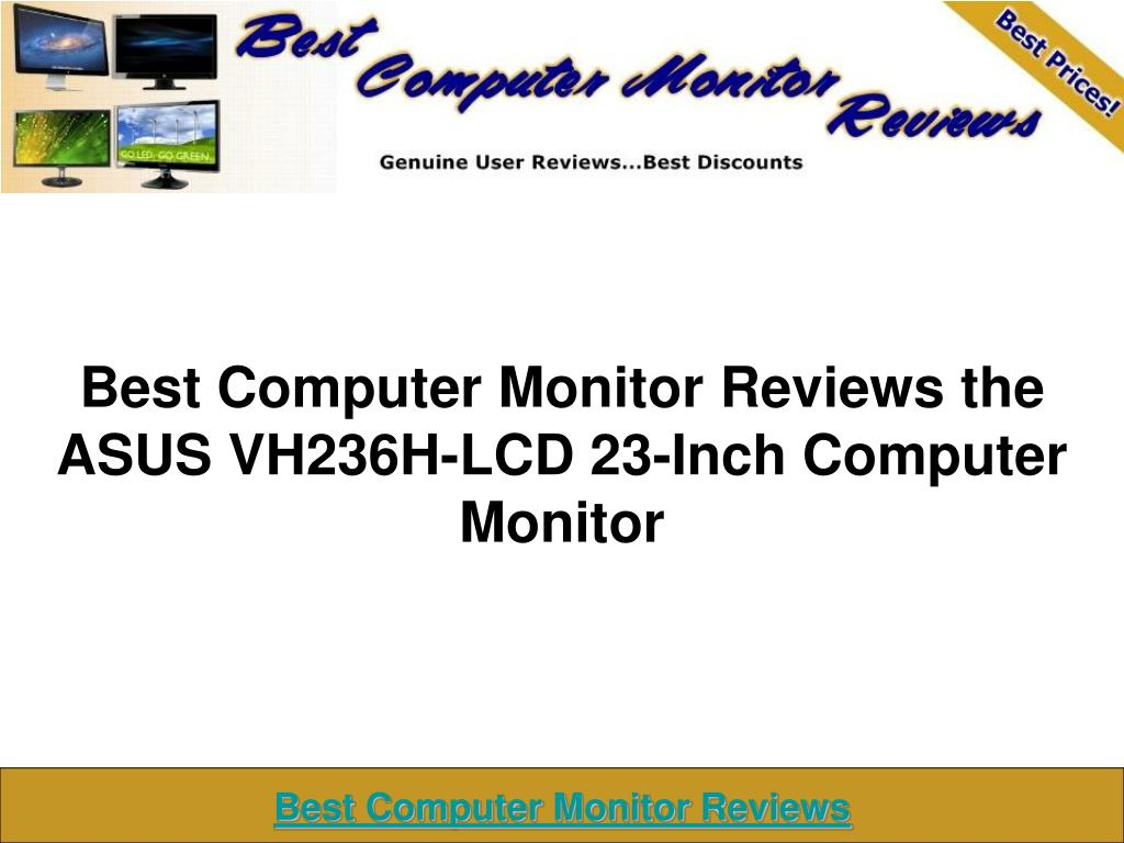 best computer monitor reviews the asus vh236h lcd 23 inch computer monitor l.