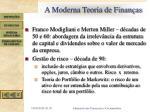 a moderna teoria de finan as