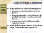 an lise vertical x horizontal
