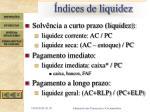 ndices de liquidez