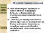 o sistema financeiro nacional