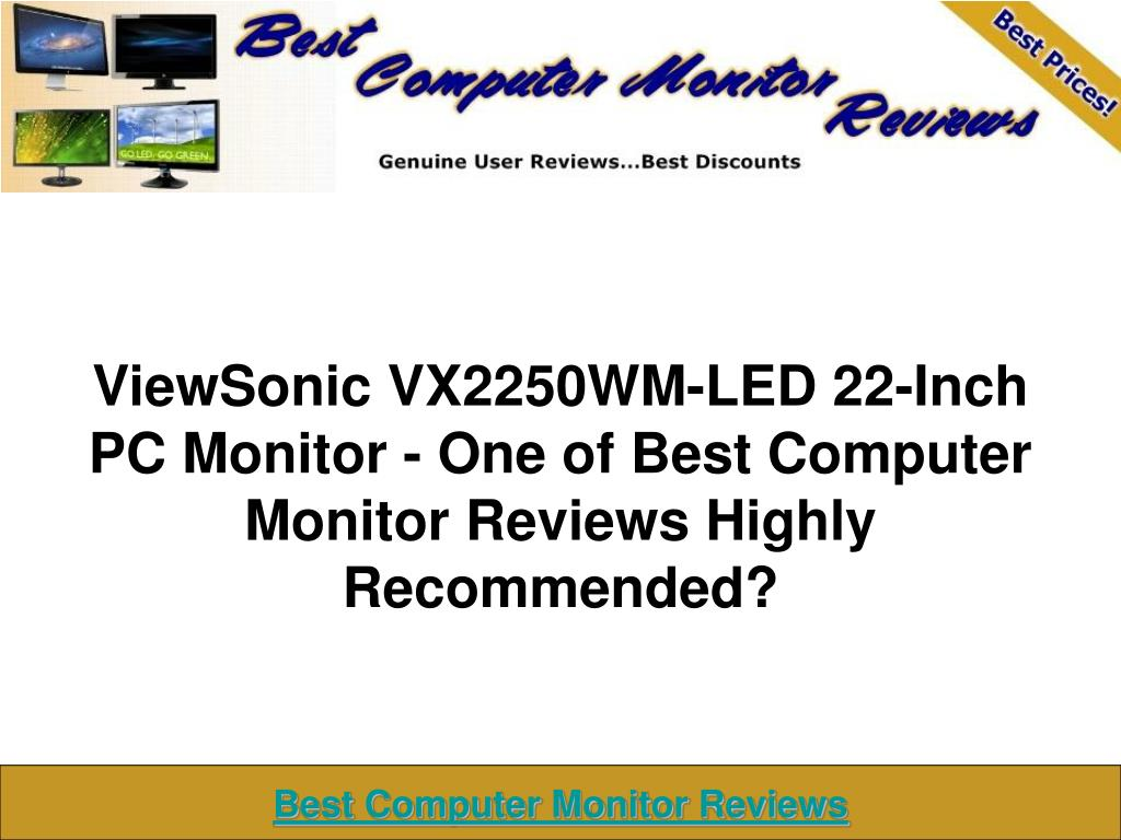 viewsonic vx2250wm led 22 inch pc monitor one of best computer monitor reviews highly recommended l.