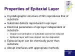properties of epitaxial layer