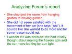 analyzing foram s report
