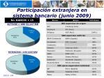 participaci n extranjera en sistema bancario junio 2009