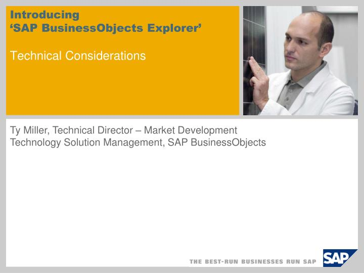 introducing sap businessobjects explorer technical considerations n.