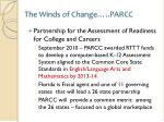 the winds of change parcc