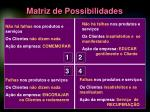 matriz de possibilidades