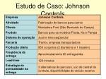 estudo de caso johnson controls