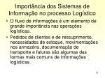 import ncia dos sistemas de informa o no processo log stico
