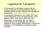 log stica de transporte