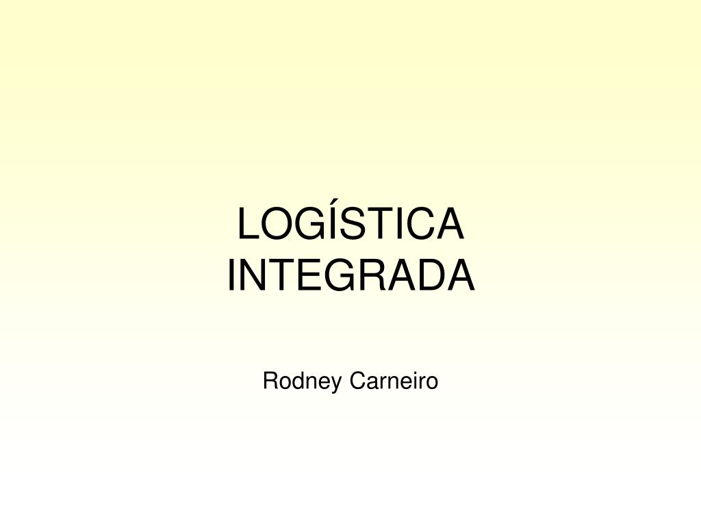 log stica integrada l.