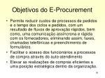 objetivos do e procurement