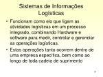sistemas de informa es log sticas