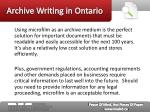 archive writing in ontario4