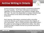 archive writing in ontario5