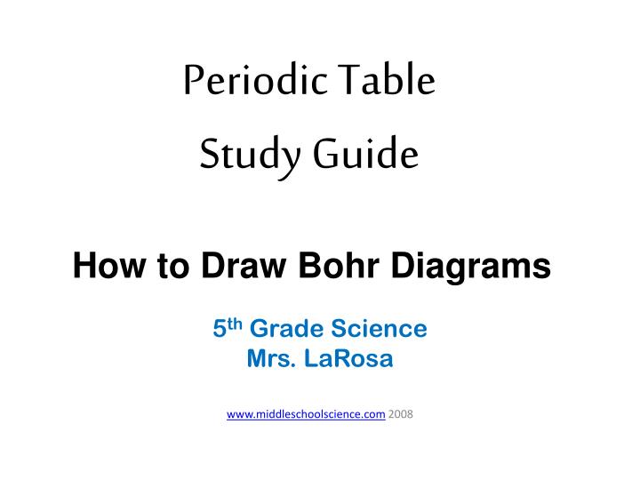Ppt periodic table study guide powerpoint presentation id218170 periodic table study guide urtaz Choice Image