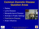 common zoonotic disease question areas12