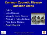 common zoonotic disease question areas13