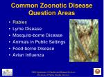 common zoonotic disease question areas8