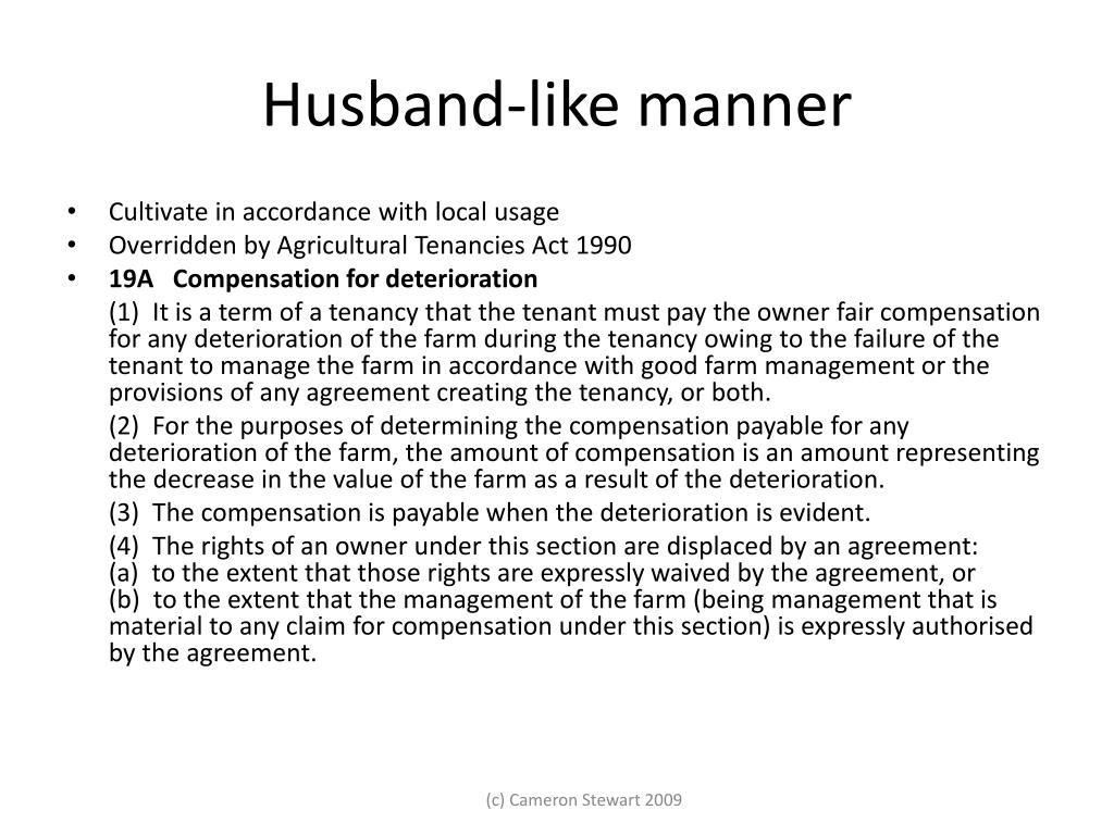 Husband-like manner