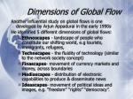 dimensions of global flow