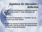 questions for discussion reflection