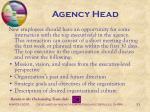 agency head