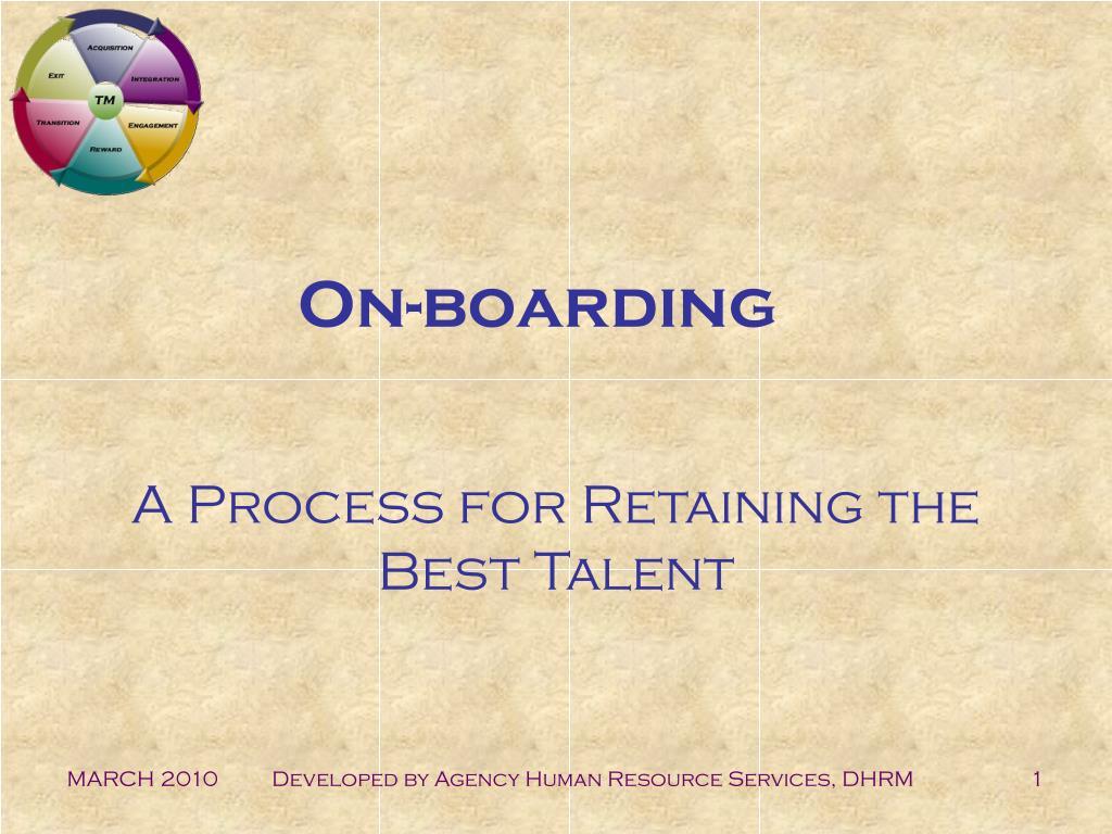 on boarding l.