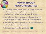 work buddy responsibilities