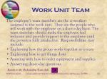 work unit team