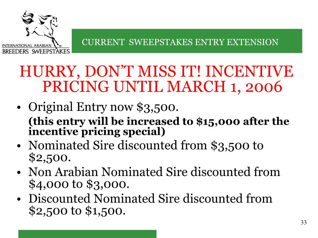 HURRY, DON'T MISS IT! INCENTIVE PRICING UNTIL MARCH 1, 2006