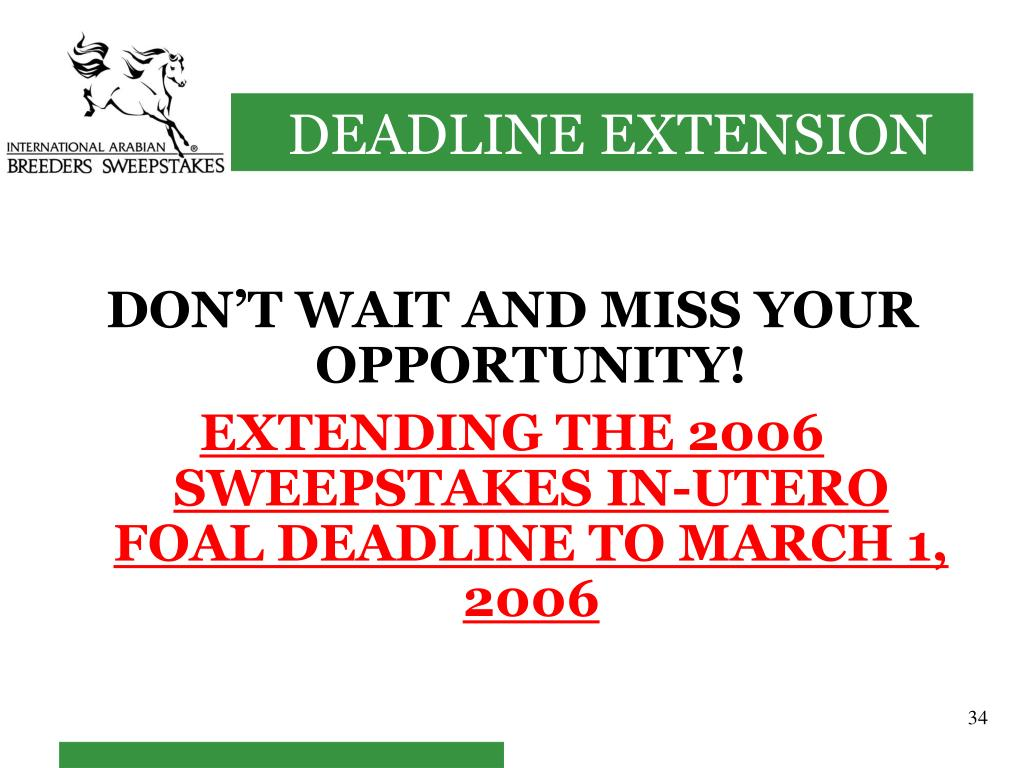 DON'T WAIT AND MISS YOUR OPPORTUNITY!