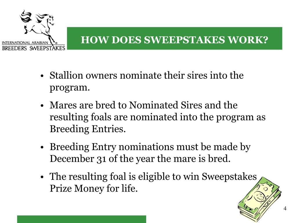 HOW DOES SWEEPSTAKES WORK?
