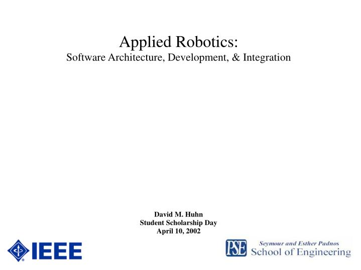 Applied Robotics: