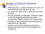 benefits of practical standards