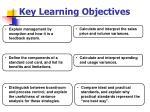 key learning objectives