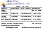 multree homes custom homes product line