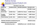 multree homes standard homes product line