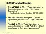 isa 95 provides direction