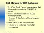 xml standard for b2m exchanges