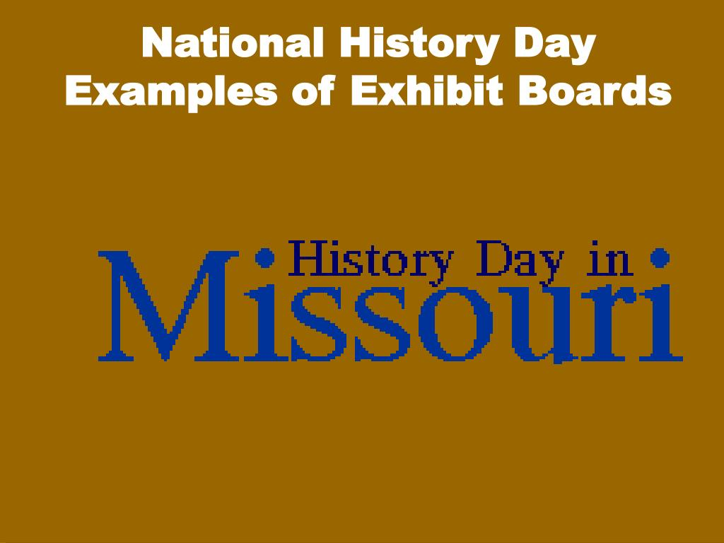 national history day examples of exhibit boards l.