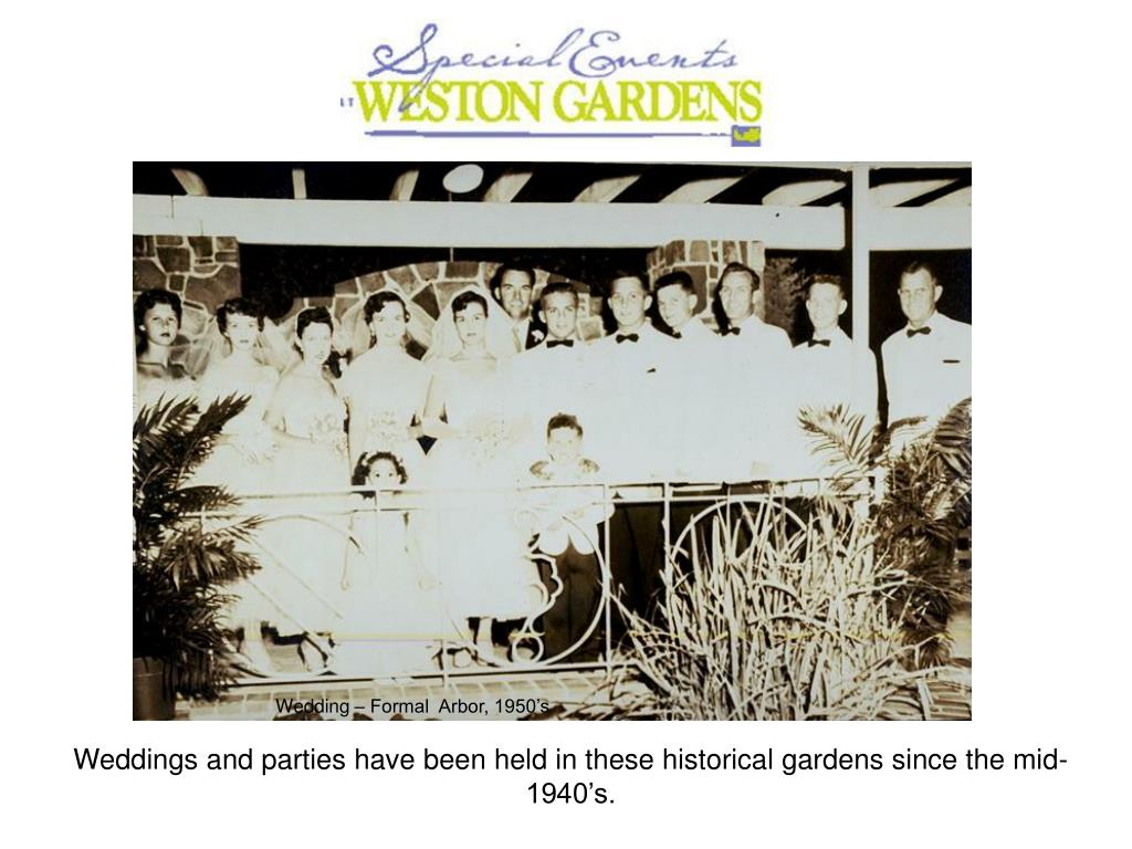 Wedding – Formal  Arbor, 1950's