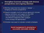 strengthen business strategy with diverse perspectives and ongoing attention