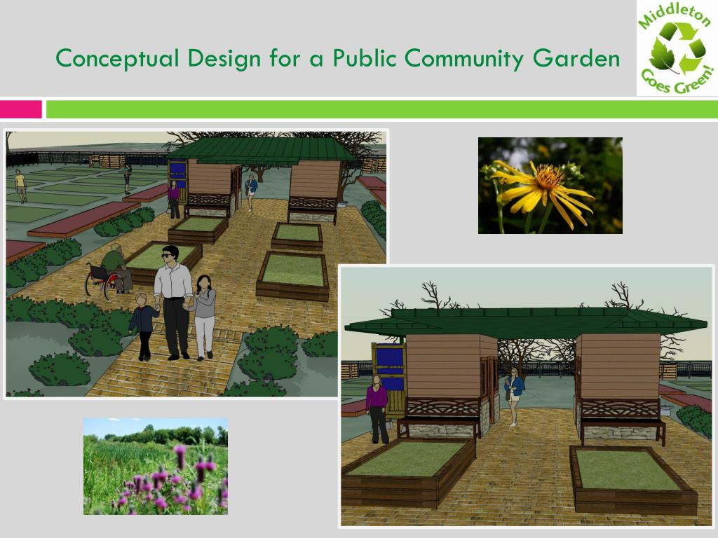Conceptual Design for a Public Community Garden