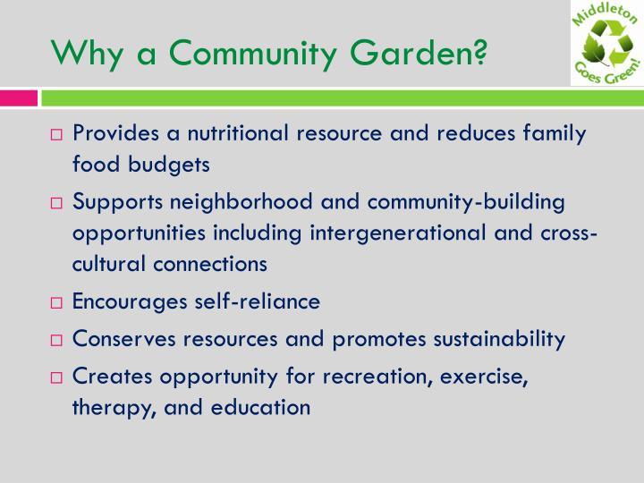 Why a community garden