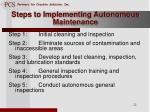 steps to implementing autonomous maintenance