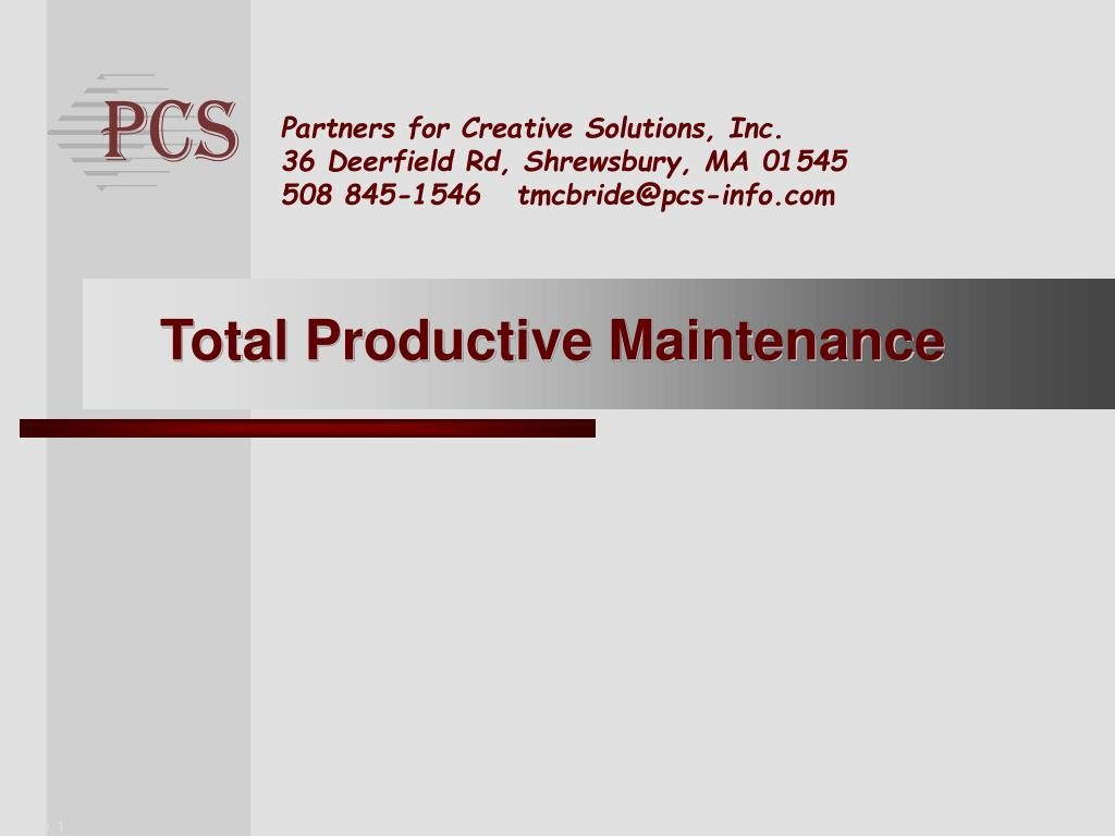 total productive maintenance l.